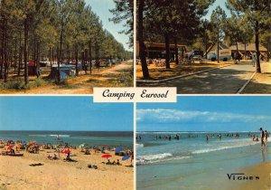 France Saint Girons Plage Le Camping Eurosol La Paisible Plage Beach Postcard