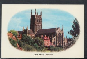 Worcestershire Postcard - The Cathedral, Worcester    T7196