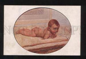 057507 Baby BOY on Towel by SARTORIO old