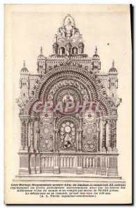 Postcard Old Clock mounentale Beauvais