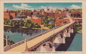 Virginia Lynchburg Williams Viaduct And BUsiness Section Skyline 1946