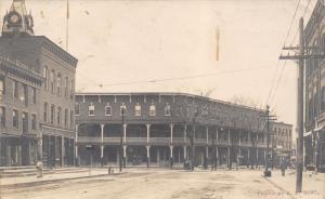 Bennington Vermont~Putnam House Hotel~Bicycle Renting & Repair~Clock~1907 RPPC