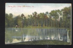MOBILE ALABAMA SPRING HILL COLLEGE LAKE VINTAGE POSTCARD CEDAR RAPIDS IOWA