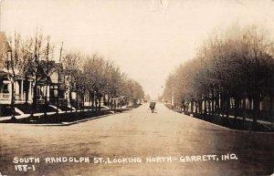 Garrett Indiana South Randolph Street Real Photo Vintage Postcard JI658584