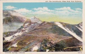 Colorado Colorado Springs The Switch Backs Pikes Peak Auto Highway 1955