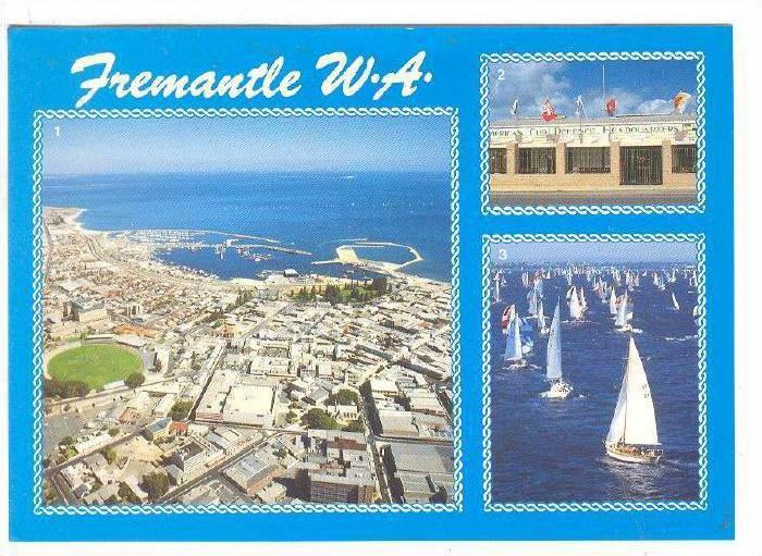Aerial view, Fremantle, Western Australla, 40-60s