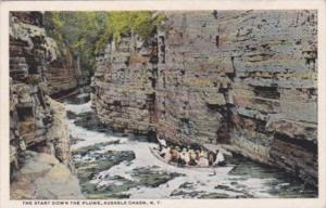 The Start Down The Flume Ausable Chasm New York Curteich
