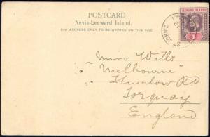 Leeward Islands, NEVIS, St. John Church Figtree (1900) Stamp