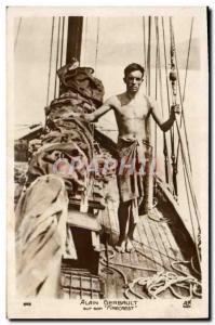 Old Postcard Boat Sailboat Alain Gerbault his Firecrest