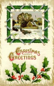 Greeting - Christmas.   *RPO- Brattleboro & New London Railroad