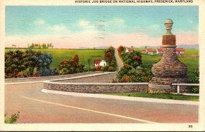 Maryland Frederick Historic Jug Bridge On National Highway 1939
