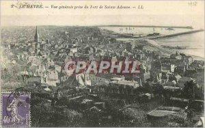Old Postcard Le Havre Vue Generale capture of Fort Sainte Adresse