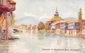 India Srinagar, Temple of Shahamadam, boat