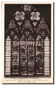 Troyes Old Postcard The cathedral Beautiful stained glass of the press & # 39...