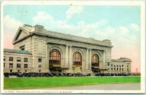 1928 Kansas City, Missouri FRED HARVEY Postcard H-2998 - THE UNION STATION