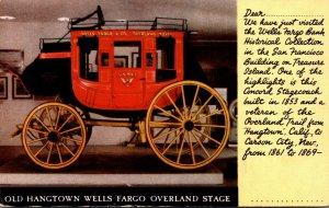 Old Hangtown Wells Fargo Overland Stagecoach