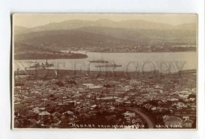 287091 AUSTRALIA HOBART military ships Vintage Baily photo postcard