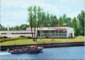 Karlstad Restaurant Sandgrund Sweden Boat Postcard D58 UNUSED