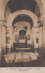 Zamora Nave San Pedro Church Antique Spanish Postcard