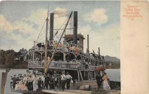 F51/ Zanesville McConnelsville Ohio Postcard c1910 Steamer Valley Gem
