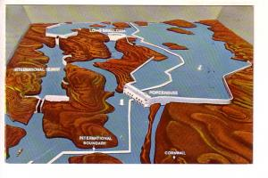 St Lawrence Seaway and Power Project, Ontario Hydro, Cornwall, Ontario, Map