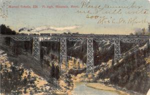 Missoula MT Horizon & Jean Claude Maret Trestle Match~Passenger Train Over 1907