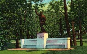 South Haven, Michigan, MI, Doughboy Memorial, 1952 Vintage Postcard h3609