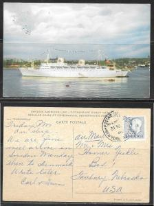 Swedish American Line, M.S. Klungsholm, mailed