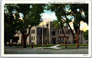 Carlsbad, New Mexico Postcard EDDY COUNTY COURT HOUSE Curteich Linen c1940s