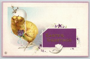 Easter Fantasy~Chick in Egg Shell Bonnet~Lil Button Down Claw Shoes~Purple~610 F