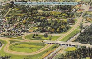 Mississippi Jackson Intersection Cloverleaf U S 49 ,51 And 80 Entering Jackson
