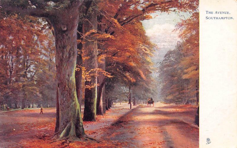 The Avenue, Southampton, England, Early Tuck's Postcard, Unused