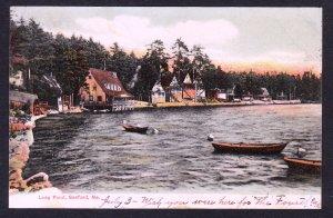 Sanford, ME - Long Pond - 1906 - G.W. Morris card