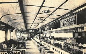 Honesdale PA Steve's Diner Interior on U. S. Route 6 Postcard.