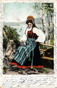 CPA NORWAY-Norwegian folk costumes (332576)