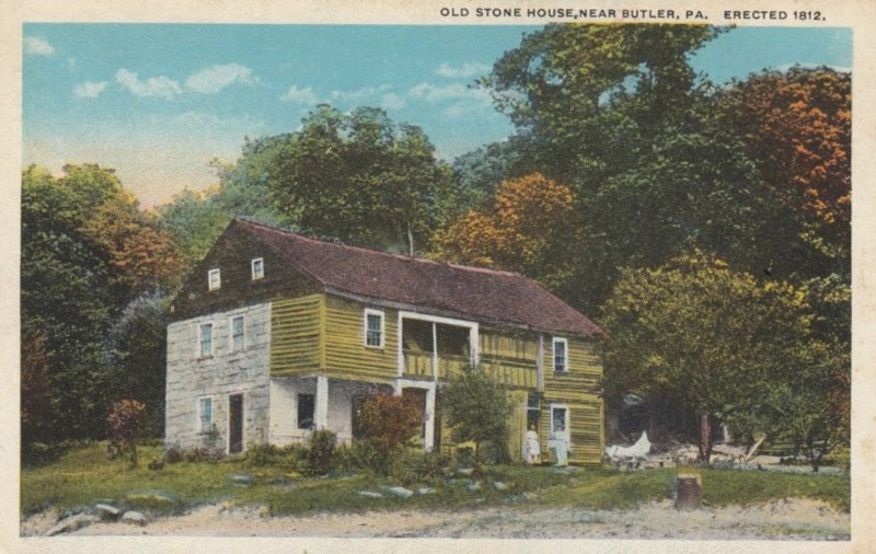 BUTLER, Pennsylvania, 1910s; Old Stone House
