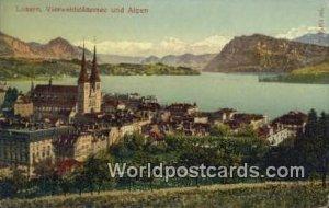 Vierwaldstattersee und Alpen Luzern Swizerland Unused