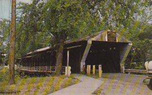 Ohio Newark Falls Only Remaining Covered Bridge In Trumbull County