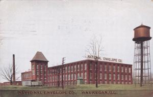 WAUKEGAN, Illinois, PU-1909; National Envelope Co., Water tower
