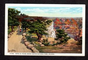 AZ Hotel El Tovar Grand Canyon National Park Arizona Postcard Fred Harvey PC