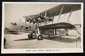 Mint England Real Picture Postcard Syrinx Class Imperial Airways Air Liner