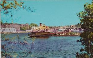 Maine Bangor Scene On The Penobscot River