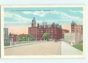 W-border HOTEL SCENE Rockford Illinois IL AE1944