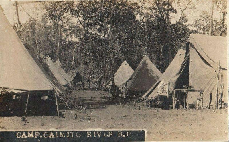 RP: CAIMITO RIVER , Panama , 1900-10s ; Camp