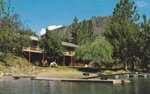 Waterfront View, Gallagher Lake Lodge Motor Motel, Bird Sanctuary, Oliver, Br...