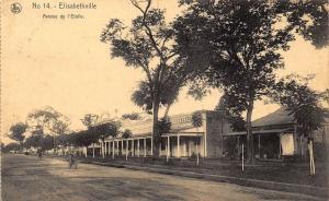 Belgian Congo Belge Elisabethville Star Avenue cyclist Postcard