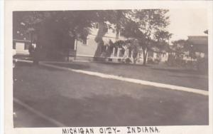 Indiana Michigan City Residential Scene Real Photo