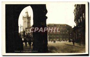 Postcard Old Prague Staromestska Radnice
