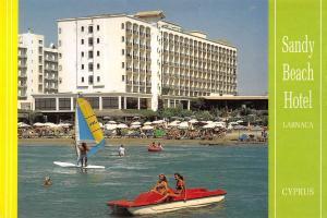 B96523 sandy beach hotel larnaca cyprus boat