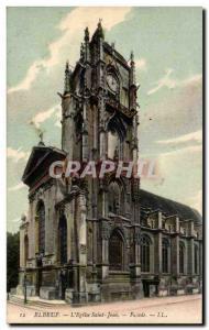 Elbeuf - L & # 39Eglise Saint John - Old Postcard